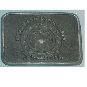 Belt Buckle 1776 BICENTENNIAL 1976 Eagle Stars